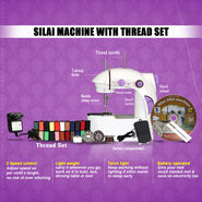 Silai Machine with Thread Set