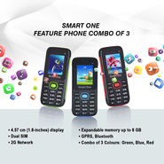 Smart One Feature Phone Combo of 3