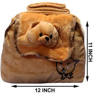Kids Brown Stuff Bag - Hosiery Chenille 1009