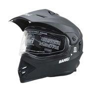 Steelbird Helmet - SB 42 Bang Motocross with Double-Visor - Matt Black
