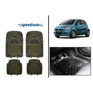 Speedwav Transparent Black Car Floor / Foot Mats - Maruti Ritz