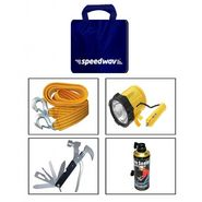 Combo of Tow Cable+ Magnetic Light+ Tyre Sealant+ 11 in 1 Toolkit