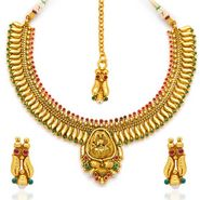 Sukkhi Finely Gold Plated Necklace Set - Golden - 2105NGLDPL3500