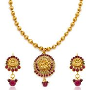 Sukkhi Bewitching & Briliant Gold Plated Necklace Set - Golden - 2114NGLDPL1000