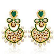 Sukkhi Charming Gold Plated Earrings - Golden - 6063EGLDPM500
