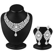 Sukkhi Rajasthani Rhodium Plated AD Stone Necklace Set