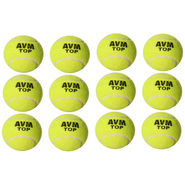 AVM Top Tennis Ball -   Size: Standard,  Diameter: NA NA (Pack Of 12, Green)