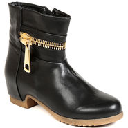 Leather Black Boots For Womens -tb25