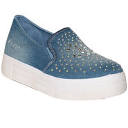 Ten Denim Blue Mocassins -tens44