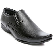 Black Faux Leather Formal Shoes -tens79