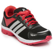 Ten Black & Red Mesh Sports Shoes -mtj15