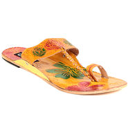 Womens Ethnic Slippers tj9 -Yellow