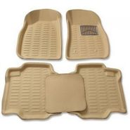 3D Foot Mats for Mahindra KUV 100 6 seater Beige Color-TGS-3D beige 53