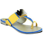 Ten Faux Leather Sandals For Women_tenbl196 - Yellow