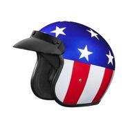 Studds Jetstar Classic D1 Captain America Open Face Helmet- (Large - 58 cms)