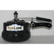 Topline Inner Lid Hard Anodized Handi Pressure Cooker ISI Certified 3 Ltr Black