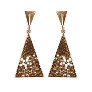 Urthn Fashion Triangle Earrings - Golden - 1301703