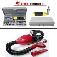 Combo of Vacuum Cleaner + 41 Pieces Tool Kit