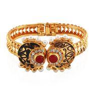 Variation Red & Green Gold Plated Designer Bangle_Vd13749