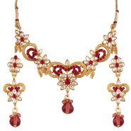 Variation Pink Kundan Gold Plated Necklace Set_Vd14207