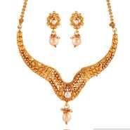 Variation White Gold Plated Necklace Set_Vd15852