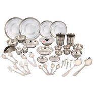 Klassic Vimal 42 Pcs Stainless Steel Dinner Set - Silver