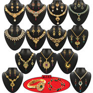 Vaibhavi 1 Gram Gold Plated 13 Jewellery Set