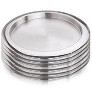 Vinod Kraft 6pcs Premium Full Plates-Silver