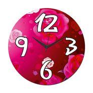 meSleep Rose Wall Clock With Glass Top-WCGL-01-05