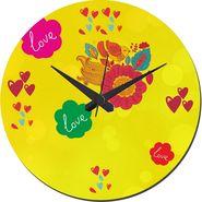 meSleep Love Flowers Wall Clock With Glass Top-WCGL-02-24