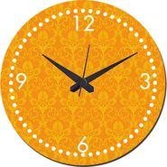 meSleep Mustard Self Print  Wall Clock With Glass Top-WCGL-02-26