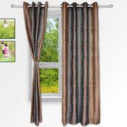 Story @ Home Brown 2 pc Window curtain-5 feet-WNR2074