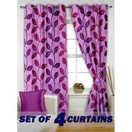 Set of 4 Printed Window curtain-5 feet-WNR_2_2003