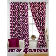 Set of 4 Printed Window curtain-5 feet-WNR_2_2022