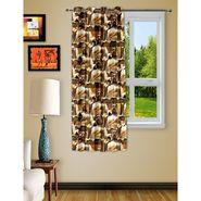 Story @ Home Brown 1 pc Digital Print Window curtain-5 feet-WRT1104
