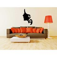 Girl Face Decorative Wall Sticker-WS-08-034