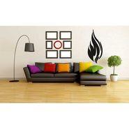 Black Fire Wave Wall Sticker-WS-08-162