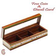 Beautiful Brown Wooden Utility Box