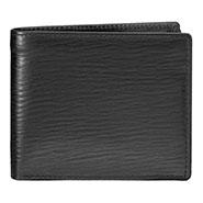 Walletsnbags Nova Long Grain Leather Wallet - Black
