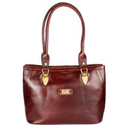 Xccess Genuine Leather Brown Handbag -Xlhb02