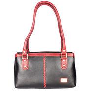 Xccess Genuine Leather Black Handbag -Xlhb08