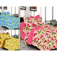 Valtellina Set of 3 100% Cotton Double Bed Sheets with 6 Pillow Covers-YM-105-106-62_10