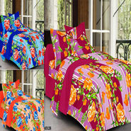 Valtellina Set of 3 100% Cotton Double Bed Sheets with 6 Pillow Covers-YM-94-95-96_08