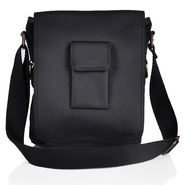 Yellow Tree Faux Leather Black Sling Bag-oy01