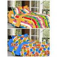 valtellina Set of 2 Double Bed Sheets with 2 Pillow Covers-Y_074-079