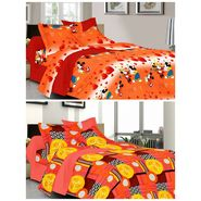 valtellina Set of 2 Double Bed Sheets with 2 Pillow Covers-Y_092-104