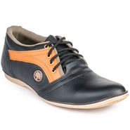 Foot n Style Artificial Leather Black Casual Shoes -fs3022