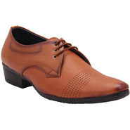 Foot n Style Faux Leather Brown Formal Shoes -Fs645