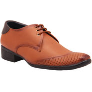 Foot n Style Faux Leather Brown Formal Shoes -Fs647