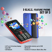 I Kall Feature Phone Set of 3